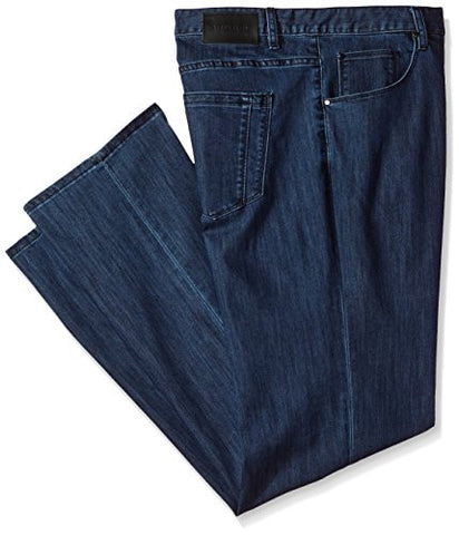 Perry Ellis Men's Big and Tall Coolmax 5 Pocket Denim Pant, Dark Indigo, 50W X 32L