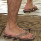 Rainbow Sandals Men Premium Leather Double Layer, Sand, XXX-Large (13.5-15)