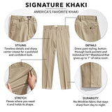 Dockers Men's Classic Fit Signature Khaki Pants D3, Dark Khaki (Cotton)-Discontinued, 36W x 32L