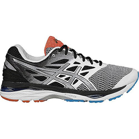 ASICS Men's Gel-Cumulus 18 Running Shoe, White/Silver/Black, 10 M US