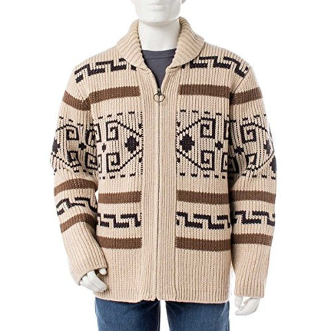 Pendleton Men's The Original Westerley Zip-up Cardigan, Tan/Brown-63897, LG