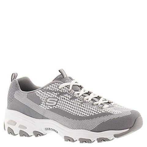 SKECHERS Women's D'Lites - Reinvention Gray/White Oxford