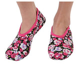 Snoozies Women's Lightweight Floral Plush Slipper Socks (Medium, Perfect Pansies)