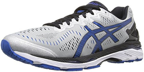 ASICS Men's Gel-Kayano 23 Running Shoe, Silver/Imperial/Black, 8.5 M US