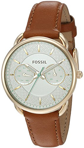 Fossil Women's ES4006 Tailor Multifunction Dark Brown Leather Watch