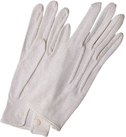 White Stitched Cotton Gloves-Pair (Small)