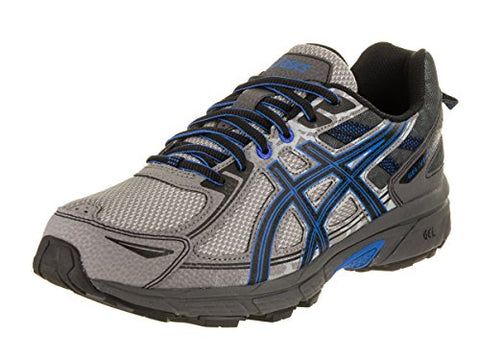 ASICS Men's Gel-Venture 6 Running-Shoes, Aluminum/Black/Directoire Blue, 10.5 Medium US