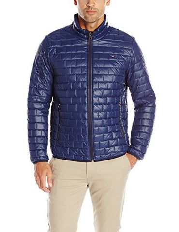 Tommy Hilfiger Men's Ultra Loft Quilted Packable Jacket, Navy, XL