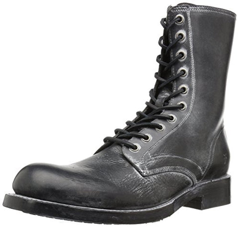 FRYE Men's Folsom Combat Boot, Black, 9 D US