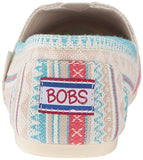 BOBS from Skechers Women's Plush-Lil Fox Flat, Aztec Off White, 8 M US