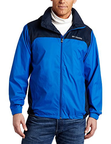 Columbia Men's Glennaker Lake Packable Rain Jacket, Blue Jay/Columbia Navy, Medium