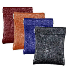 Pack of 4 Bulk Sale, Leather Squeeze Coin Pouch, Hold Pocket Change and Earbuds,Multiple colors Purses, Gifts for Women and Men