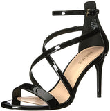 Nine West Women's Retilthrpy Patent Sandal, Black, 8 Medium US