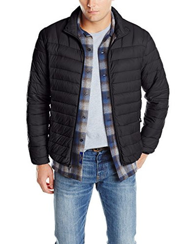 Hawke & Co Men's Packable Down Puffer Jacket II, Black, Large
