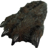 Norty - Big Adults Big Foot Fuzzy Bear Claw Slippers, Black 39443-Large