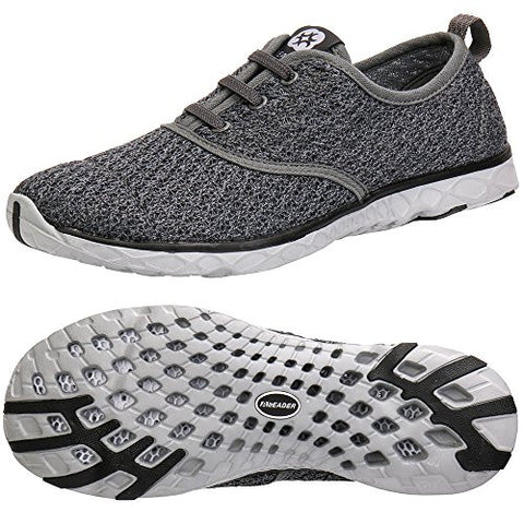 Aleader Men's Stylish Quick Drying Water Shoes Gray 12 D(M) US