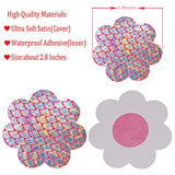 10 Pairs Women Sexy Heart Shape Disposable Pasties Nipple Cover Lingerie on Bra (Gradient color Flower)