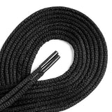 OrthoStep Waxed Very Thin Dress Round Black 32 inch Shoelaces 2 Pair Pack
