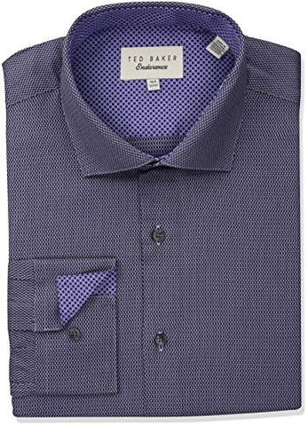 "Ted Baker Men's Urate Slim Fit Dress Shirt, Purple, 15.5"" Neck 32""-33"" Sleeve"