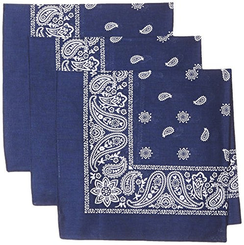 Levi's Men's Printed Bandana Set,Navy,One Size