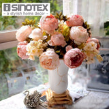 Artificial Flowers For Decoration Peony Silk Decorative Flowers European Style Artificial Flower Wedding Decoration 1 Pcs