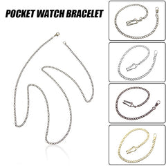 Bronze/Silver Vintage Style 5 Color For Choice Retail Alloy Pocket Watch Holder Necklace Chain For Men Women Collares