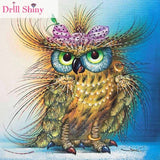 CNA 5D DIY Diamond Painting Owl Animal Embroidery Full Mosaic Rhinestone Cross Stitch Ribbon Needlework Wall Paper