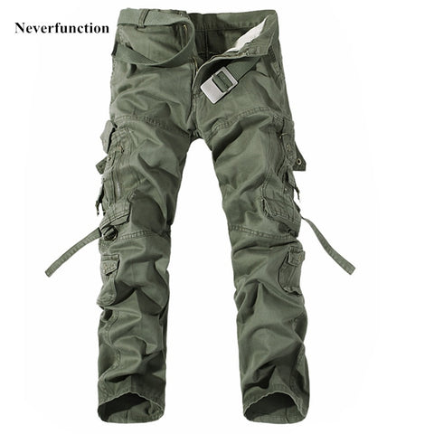 Cargo Pants Hot Selling Brand 6 Color Fashion Khaki Army Military Camo Camouflage Pants Mens Casual Trousers Plus Size 28-42