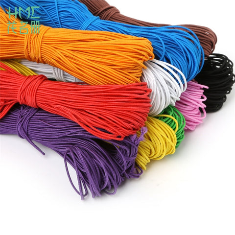 Hot Sale 25M/Lot 1Mm 10 Colors Beading Elastic Thread Cord Rope Rubber Band Elastic Stretch Cord Diy Bracelet Sewing Accessories
