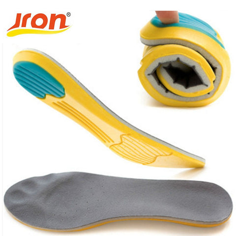 Jron US Market Memory Foam Sport Insoles Sweat Absorption Pads Running Sport Shoe Inserts Breathable Insoles Foot Care Men Women