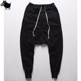 Mens joggers Casual  trousers harem pants Men black Fashion swag dance drop crotch Hip Hop sweat pants sweatpants