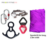 Prior Fitness 8.2M Top Quality 9 Yards Yoga Aerial Silks Set For Acrobatic Fly Dance Performance Equipment Inversion Hammock