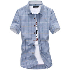 Plaid Shirts Men 2020 New Fashion 100% Cotton Short Sleeved Summer Casual Men Shirt  Camisa Masculina Mens Dress Shirts