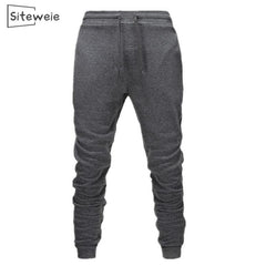 Siteweie Men'S Sweatpants Casual Cotton Sports Joggers Pants Body Builder Bottoms Trousers Fashion Hot Fitness Gym Pants L251
