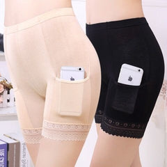 Safety Shorts Pants Plus Size Safety Pants Boxer Shorts Under Skirt With Pockets Safety Shorts Under Skirt Thigh Chafing Lace