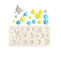 Snowflake Shaped 3D Silicon Chocolate Jelly Candy Cake Bakeware Mold Diy Pastry Bar Ice Block Soap Mould Baking Tools