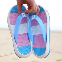 Summer Slippers 2020 Female Sandal Casual Women Soft Bottom Beach Shoes Rainbow Flip Flops