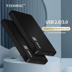 Tishric Hdd Case For Hard Drive Box Sata To Usb3.0 Adapter Hard Disk Case Hdd Enclosure External Hard Drive Box Support 8Tb