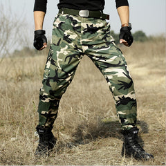 Tactical Pants Military Camouflage Hunter Swat Trousers Army Combat Cs Pants Men Tactico Camo Militar Clothing Pantalon Homme