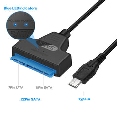 Type C Usb 3.1 Gen1 To Sata Iii Hdd Ssd Adapter Cable For 2.5 Inch Sata Drive Support Usap 20Cm Length