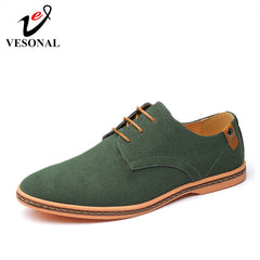 Vesonal Brand 2019 Spring Big Size 38-46 Suede Leather Men Shoes Oxford Casual Classic Sneakers For Male Comfortable Footwear