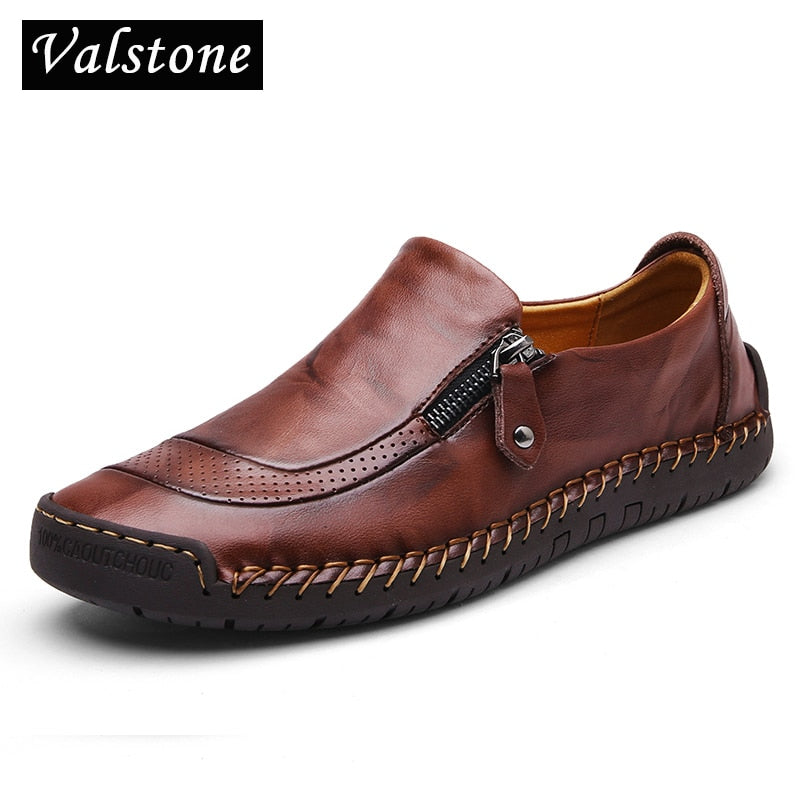Men/'s Leather Casual Shoes Breathable Antiskid Loafers Slip on Flats Moccasins