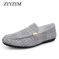 Zyyzym Men Casual Shoes 2020 Spring Summer Men Loafers New Slip On Light Canvas Youth Men Shoes Breathable Fashion Flat Footwear