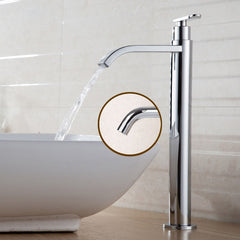 Single Cold Water 31Cm Tall Waterfall Bathroom Tap Faucet Chrome Or Brushed Finish