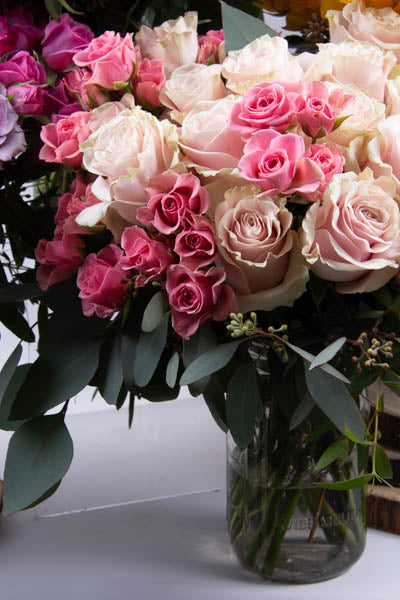 A Dozen Pink Roses and co.