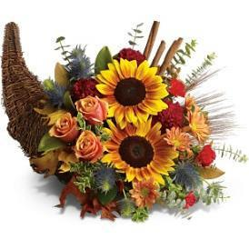 Bountiful Beauty Cornucopia - flowersbypouparina.com