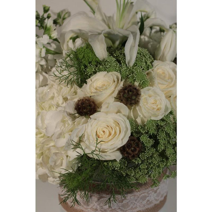 Burlap and Lace Flowers - flowersbypouparina.com