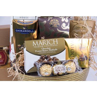 Chocolate Indulgence Basket - flowersbypouparina.com