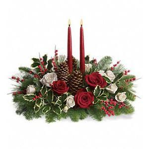 Christmas Wishes Centerpiece - flowersbypouparina.com