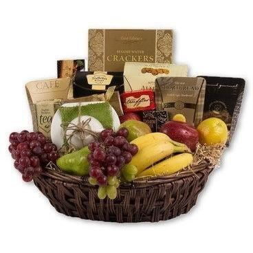 Corporate Fruit & Gourmet Basket - flowersbypouparina.com
